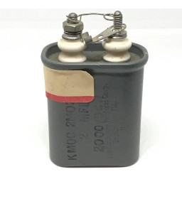 0.25UF 2000V Paper in Oil Capacitor CONDENSER PRODUCTS KMOC