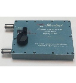 3.5-12.4GHZ 200W Nf COAXIAL PHASE SHIFTER Narda 3753B