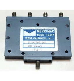 3.7-4.2GHZ 50Ohm 4 WAY SMA POWER DIVIDER COMBINER MERRIMAC PDM-42-3.9GA