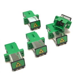 5pcs SC / APC SC-APC Fiber Optic Adapter / Dust Cap